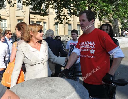 Editorial photo of Boris Johnson & Alastair Campbell Unite in Support of Charity Cycle Challenge