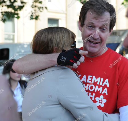 Editorial image of Boris Johnson & Alastair Campbell Unite in Support of Charity Cycle Challenge