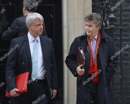 Cabinet Meeting at Number 10 Downing Street Westminster London Andrew Lansley Mp & Jonathan Hill Baron Hill of Oareford Leader of the House of Lords and Chancellor of the Duchy of Lancaster