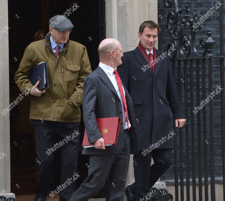 Cabinet Meeting at Number 10 Downing Street Westminster London Sir George Young Bt Mp Chief Whip David Willetts Mp Minister of State (universities and Science) Department For Business Innovation and Skills & Jeremy Hunt Mp Secretary of State For Health