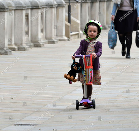Cabinet Meeting at Number 10 Downing Street Westminster London\ Florence Cameron Scoots Off to School