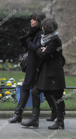 Cabinet Meeting at Number 10 Downing Street Westminster London Samantha Cameron's Personal Assistant Isabel Spearman (l)