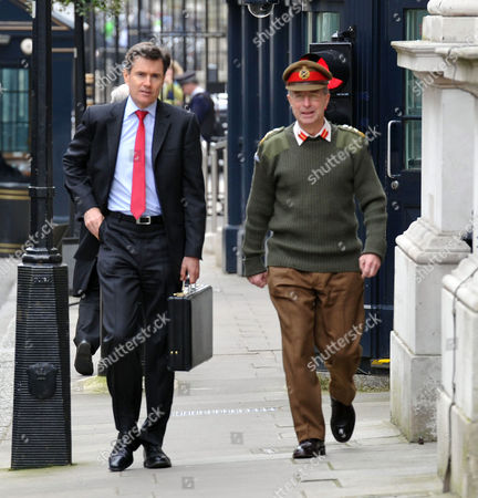 Cabinet Meeting at Number 10 Downing Street Westminster London Sir John Sawers Chief of the Secret Intelligence Service with General Sir David Richards the Chief of the Defence Staff
