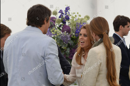 Cartier Queens Cup at Smiths Lawn Windsor Great Park Windsor Berkshire Adam Bidwell and Princess Beatrice of York