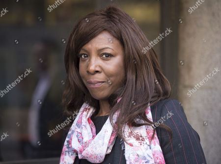 Constance Briscoe Arrives at the Old Bailey where She is to Facing A Re-trial Over Huhne Points Case