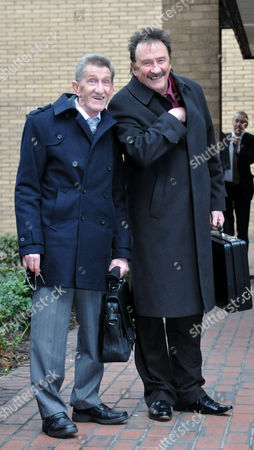 Former Radio 1 Dj Dave Lee Travis ( David Patrick Griffin) Case at Southwark Crown Court in London where He Faces Sex Charges the Chuckle Brothers Barry Elliott and Paul Elliott Arrive to Give Evidence
