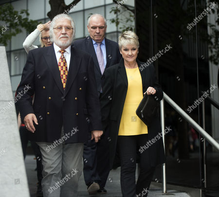 Editorial photo of Dave Lee Travis at Southwark Crown Court