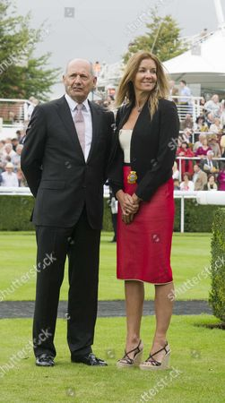 Day 1 of Glorious Goodwood at the the Goodwood Estate Chichester West Sussex Ron Dennis with His Partner Carol Weatherall