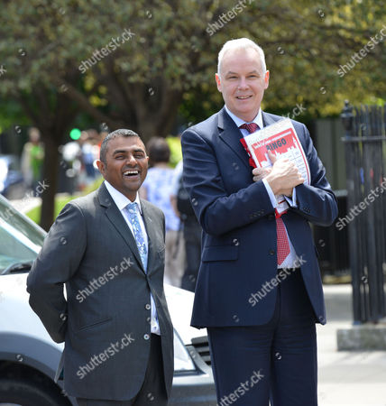 Demo's For and Against Gay Marriage in Westminster Lord Waheed Alli and Stonewall Chief Executive Ben Summerskill Watch the Demo's
