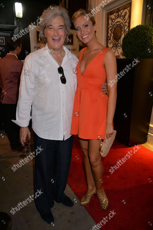 Curtain Call and After Party at the Dirty Dancing Press Night the Piccadilly Theatre Soho London the Producer Karl Sydow and Charlotte Gooch