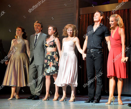 Stock Picture of Curtain Call and After Party at the Dirty Dancing Press Night the Piccadilly Theatre Soho London Paul Michael Jones Jill Winternitz & Charlotte Gooch