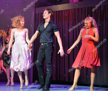 Curtain Call and After Party at the Dirty Dancing Press Night the Piccadilly Theatre Soho London Paul Michael Jones Jill Winternitz & Charlotte Gooch