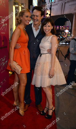 Curtain Call and After Party at the Dirty Dancing Press Night the Piccadilly Theatre Soho London Charlotte Gooch Paul Michael Jones & Jill Winternitz