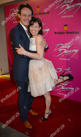 Curtain Call and After Party at the Dirty Dancing Press Night the Piccadilly Theatre Soho London Paul Michael Jones & Jill Winternitz