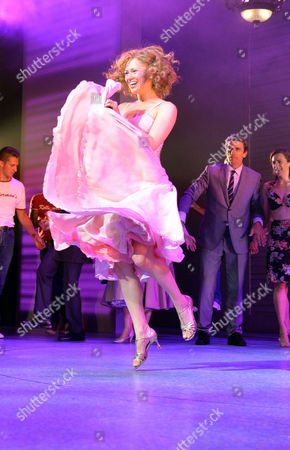 Curtain Call and After Party at the Dirty Dancing Press Night the Piccadilly Theatre Soho London Jill Winternitz and Paul Michael Jones