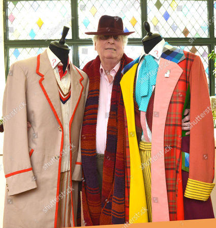 The 4th Doctor Who Tom Baker with Doctor Who Outfits at the Ivy Club West Street Convent Garden London For A Launch of the New Doctor Who Series Starting On the Horror Channel On Good Friday