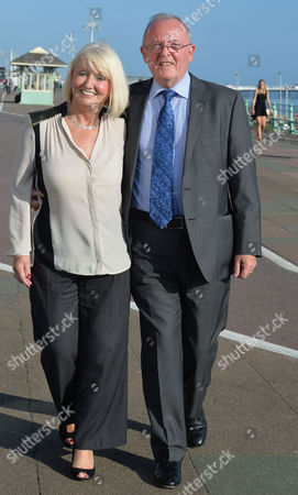 Labour Conference at Brighton Sussex Ed Miliband's Speech Cathy Murphy with Her Husband James Murphy