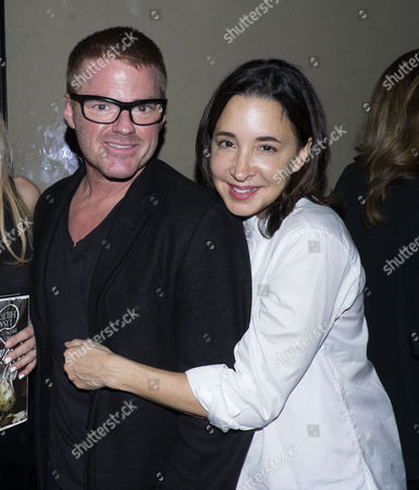 Stock Picture of The Launch of Lisa Hilton's Elizabeth: Renaissance Prince at Loulou's 5 Hertford Street Mayfair London Heston Blumenthal with His Girlfriend Suzanne Pirret