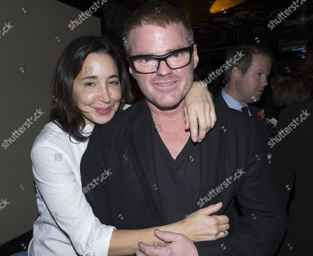 Stock Photo of The Launch of Lisa Hilton's Elizabeth: Renaissance Prince at Loulou's 5 Hertford Street Mayfair London Heston Blumenthal with His Girlfriend Suzanne Pirret