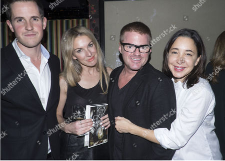 The Launch of Lisa Hilton's Elizabeth: Renaissance Prince at Loulou's 5 Hertford Street Mayfair London Historian Dan Jones and His Wife and Heston Blumenthal with His Girlfriend Suzanne Pirret