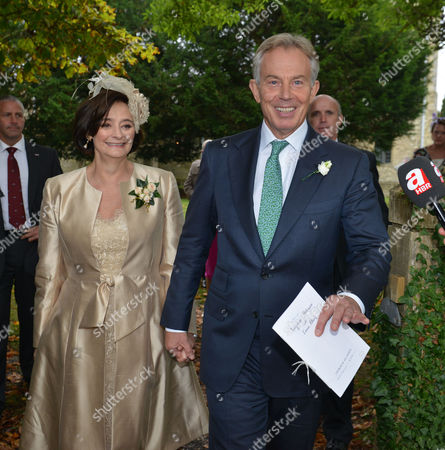 Tony & Cherie Blair Levee the Church After the Wedding
