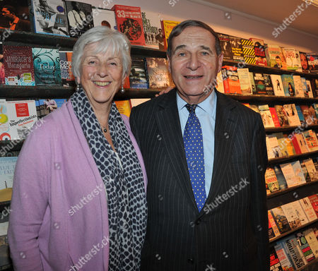 Ex-wives Book Launch at Daunt Books Marylebone High Street London Lord Leon Britton with His Wife Lady Diana Brittan