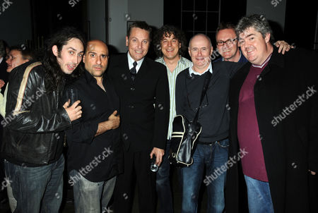 Stock Picture of First Night Party For 'The Shawshank Redemption' at the Cafe National Gallery Omid Djalili Brian Conley Alan Davies Ross Noble Dave Johns and Phil Jupitus