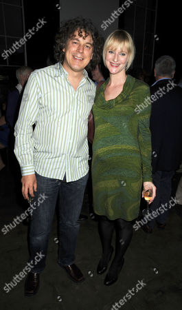 Stock Photo of First Night Party For 'The Shawshank Redemption' at the Cafe National Gallery Alan Davies with His Wife Katie Maskell
