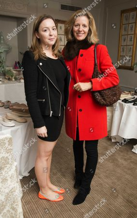 French Sole Spring Summer 13 Preview Day and London Sole Launch at Browns Hotel Mayfair Zenouska Mowatt with Her Aunt Julia Ogilvy
