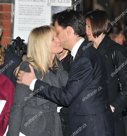 Funeral For Lord Phillip Gould at All Saints Margaret Street London Fiona Millar & Ed Miliband