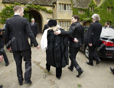 Funeral of Robin Gibb at St Marys Church Thame Oxfordshire Robin-john Gibb and His Mother Dwina Murphy Gibb Robin's Widow Return to the Family Home After the Funeral