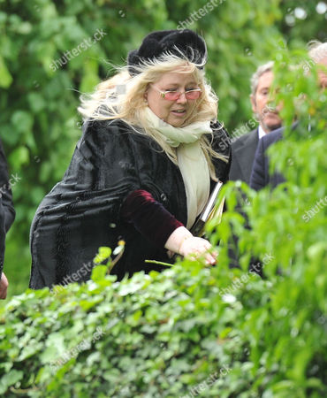 Stock Picture of Funeral of Robin Gibb at St Marys Church Thame Oxfordshire Dwina Murphy Gibb