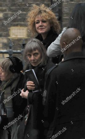 Funeral Service For Roger Lloyd-pack at St Paul's Church the Actors Church in Bedford Street Convent Garden London Emily Lloyd and Her Step Mother Jehane Markham