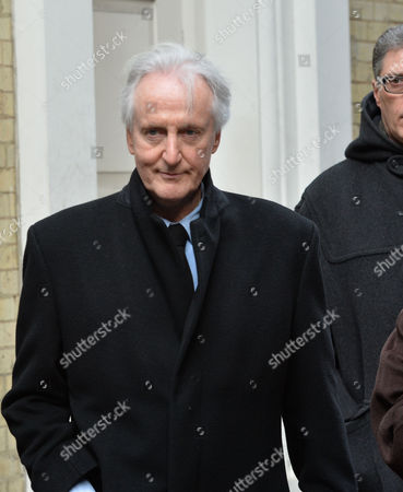 Stock Picture of Funeral Service For Roger Lloyd-pack at St Paul's Church the Actors Church in Bedford Street Convent Garden London Hugh Fraser