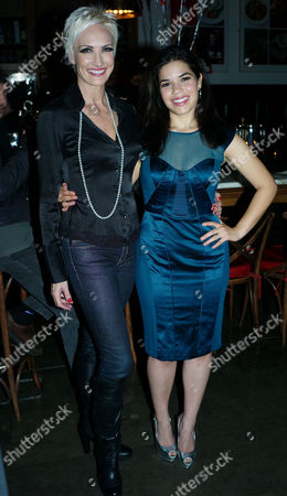 Gala Performance of Chicago After Party at the National Café in the National Gallery Trafalgar Square London America Ferrera and Amra-faye Wright