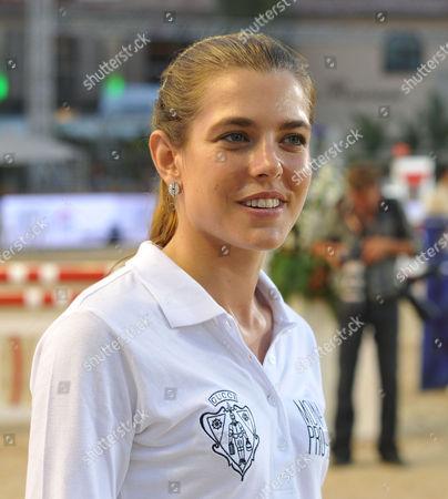 Global Champions Tour of Monaco Friday Pro-am Princess Charlotte Casiraghi Prepare For the Pro Am Jumping Event at the Global Champions Tour of Monaco