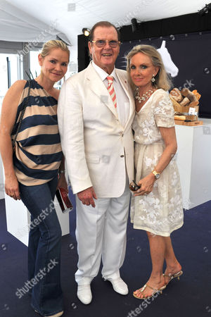 Monaco 30th July 2012: Christina Knudsen, Sir Roger Moore & Lady Kiki Moore at the Global Champions Tour of Monaco Saturday, On the 30th July 2012.