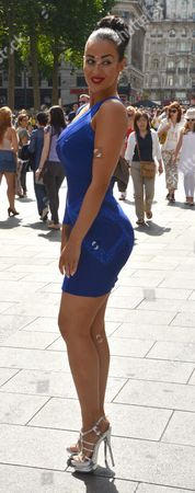 Global Smurfs Premiere Day the Vue Cinema Leicester Square Westminster London Simon Webbe's Girlfriend Maria Koukas