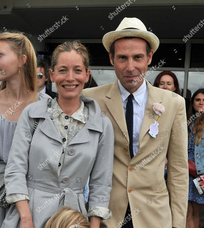 Glorious Goodwood Ladies Day at the Goodwood Estate Chichester West Sussex Marlon Richards with His Wife Lucie De La Falaise