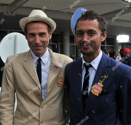 Glorious Goodwood Ladies Day at the Goodwood Estate Chichester West Sussex Marlon Richards and Dan Macmillan