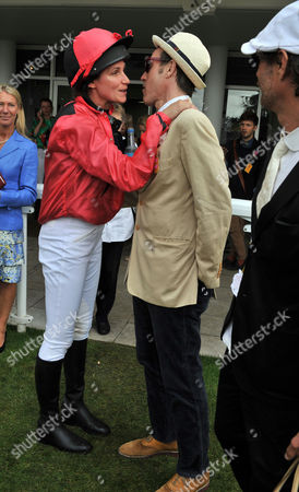 Glorious Goodwood Ladies Day at the Goodwood Estate Chichester West Sussex Marlon Richards and Rosemary Ferguson