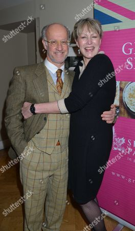 Great British Spelt Recipes Launch at the Athenaeum Hotel Piccadilly London Roger Saul and His Wife Monty