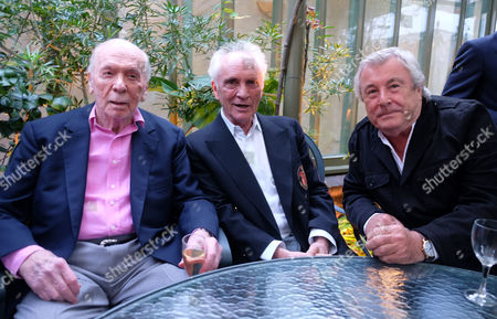 Herbert Kretzmer Launch For His Book Snapshots - Encounters with 20th Century Legends at His Home in Kensingston West London Herbert Kretzmer with Terence Stamp and Terry O'neil