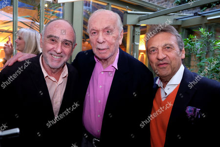Herbert Kretzmer Launch For His Book Snapshots - Encounters with 20th Century Legends at His Home in Kensingston West London Herbert Kretzmer with Alain Boublil and Claude-michel Schonberg