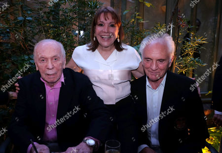 Herbert Kretzmer Launch For His Book Snapshots - Encounters with 20th Century Legends at His Home in Kensingston West London Herbert Kretzmer His Wife Sybil and Terence Stamp
