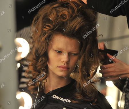 Stock Picture of London Fashion Week Issa Hair & Make Up the Court Yard Space Somerset House the Strand London American Super Model Kelly Mittendorf