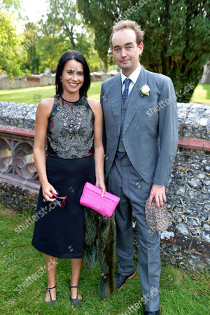 Wedding of Jake Astor to Victoria Hargreaves at St John the Evangelist Northington Hampshire Emily Sheffield and Her Husband