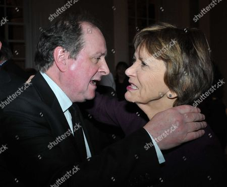 James Naughtie: the Madness of July - Book Launch Party For the Publication of His Debut Novel the Madness of July A Thriller Set in the Cold War at the Institute of Contemporary Arts Carlton House Terrace London James Naughtie and Joan Bakewell