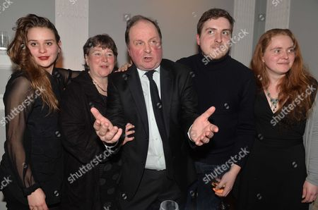 James Naughtie: the Madness of July - Book Launch Party For the Publication of His Debut Novel the Madness of July A Thriller Set in the Cold War at the Institute of Contemporary Arts Carlton House Terrace London James Naughtie and His Family Wife Eleanor Updale and Daughters and Son