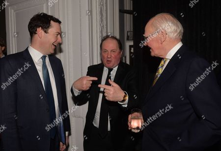James Naughtie: the Madness of July - Book Launch Party For the Publication of His Debut Novel the Madness of July A Thriller Set in the Cold War at the Institute of Contemporary Arts Carlton House Terrace London George Osborne James Naughtie & Menzies Campbell